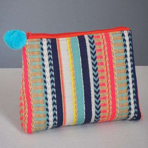 Cotton Striped Multicoloured Accessory Bag