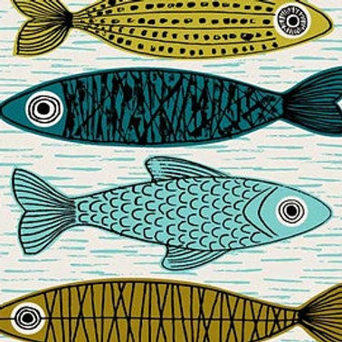 Six Fish - Limited Edition Giclée Print - (Frame not included)