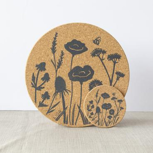 Wild Flower Cork Placemat
