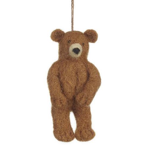 Handmade Needle Felt Brown Bear