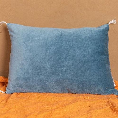 Smokey Blue Velvet Cushion Cover