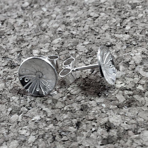 Sterling Silver Round Ear Studs