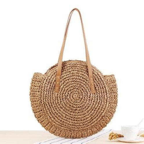Woven Raffia Circle Bag