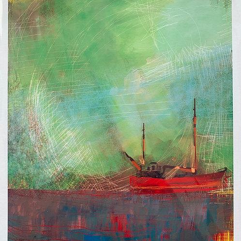'Boat Alone' Print by Keri Valentine