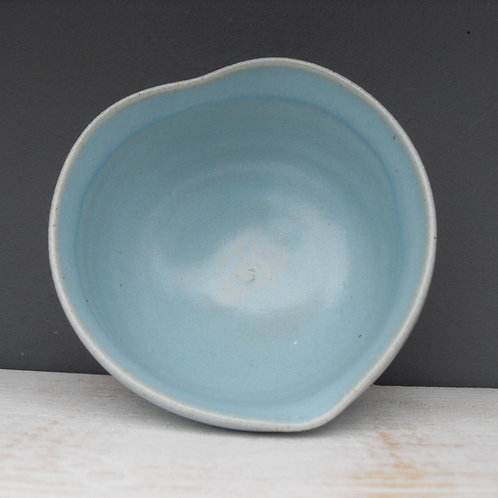 Hand Thrown Cornish Pottery- Heart Dish- by Natalie Bonney