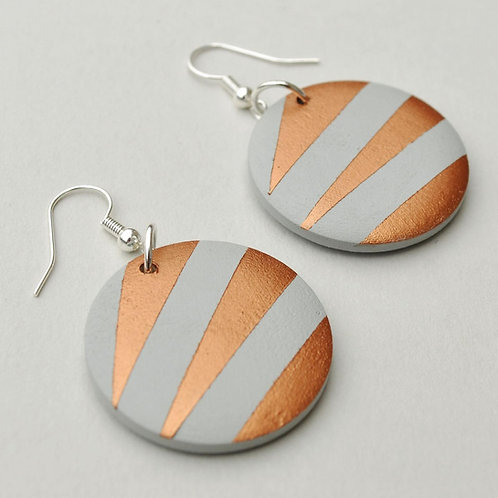 SCANDI COPPER FLAT EARRINGS