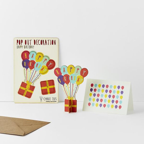 Pop Out Card Happy Birthday Balloons £5