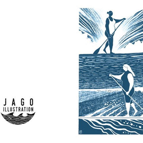 Paddle Boarder Greetings Card