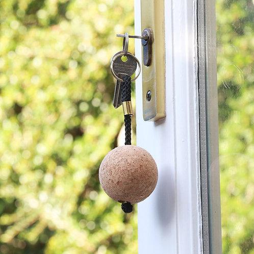 Cork Ball Keyring