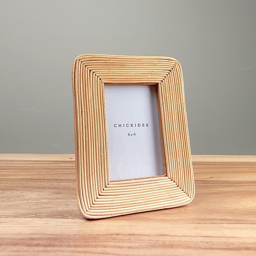 Photo Frame in Natural Rattan