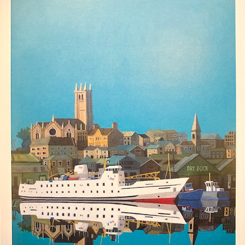 Scillonian Reflected, Penzance Print by Chris Thompson