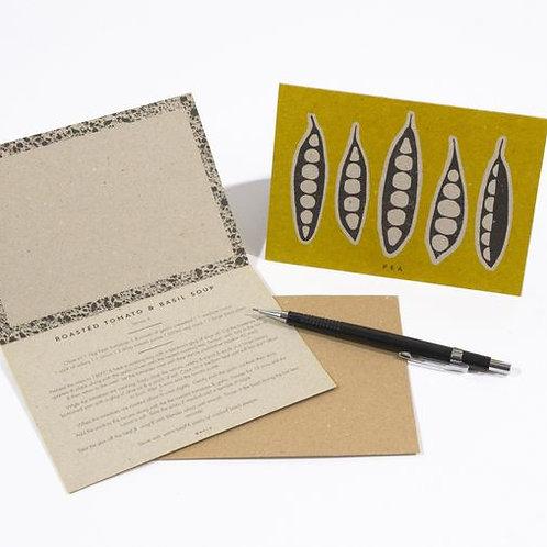 Vegan Veg Recipe Notecards- Yellow Set Notelets