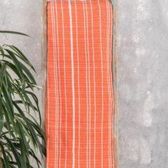 Heavy Orange Stripe Throw