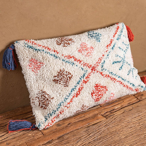 Recycled Hand Tufted Cotton Rectangle Cushion Cover