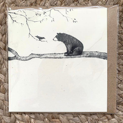 Bear & Bird - Greetings Card by Esther Connon