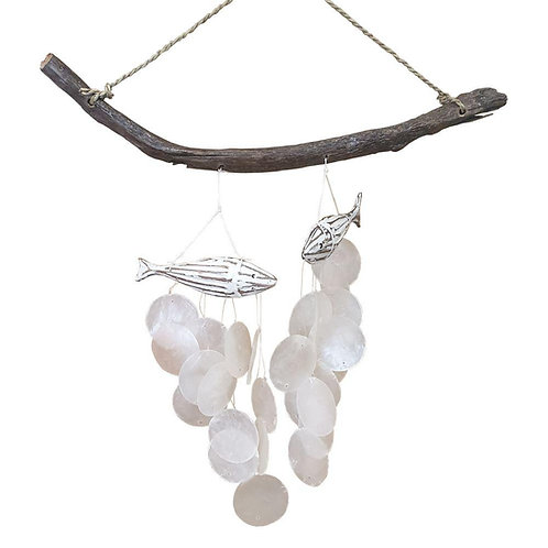 Wind Chime-Shell & Wood