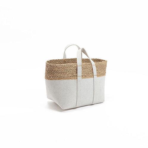 Felt Rectangle Basket With Handles Large
