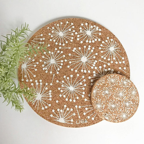 Dandelion Cork Coaster
