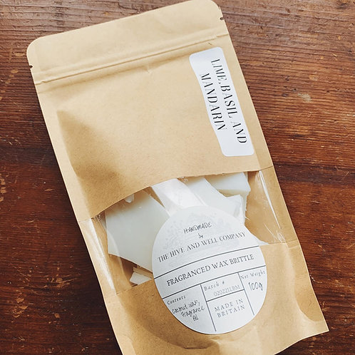 Lime Basil & Mandarin Wax Melt Brittle