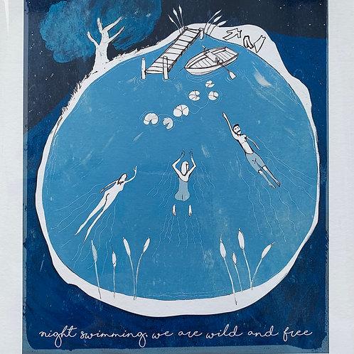 'Night Swimming' Print by Pete Shields