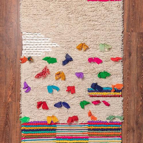 Tufted Colourful Shaggy Cotton Rug