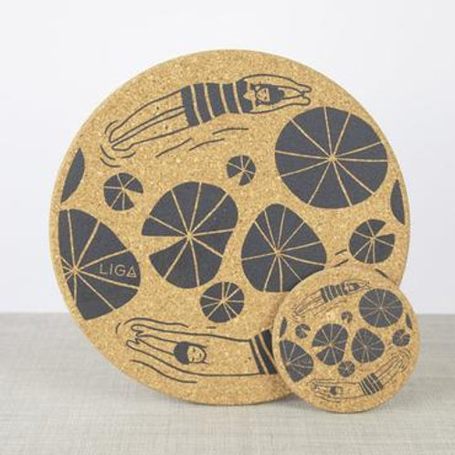 Wild Swimmers Cork Placemat