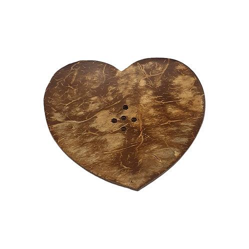 Soap Dish- Mini Heart Coconut Dish