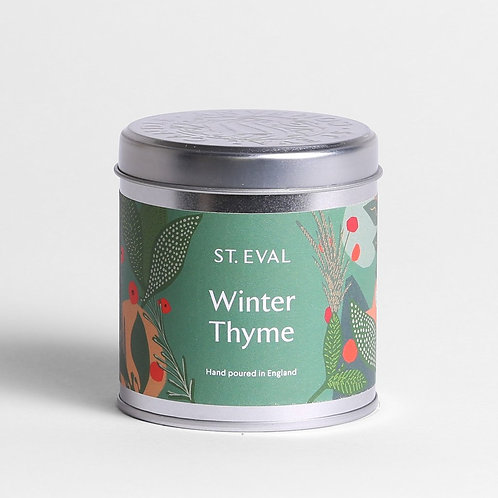 Winter Thyme Tin Candle