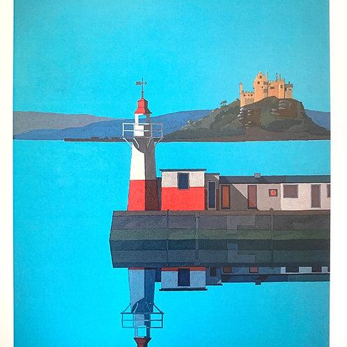 Newlyn Pier Print by Chris Thompson