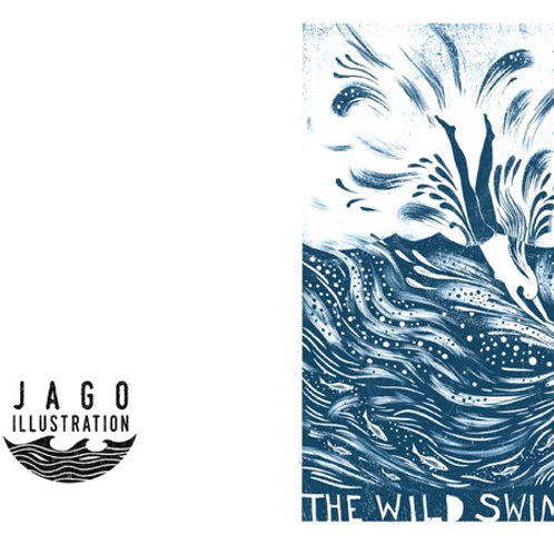Wild Swimmer Greetings Card