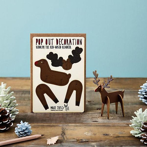 Pop Out Card Company Rudolph Reindeer £5