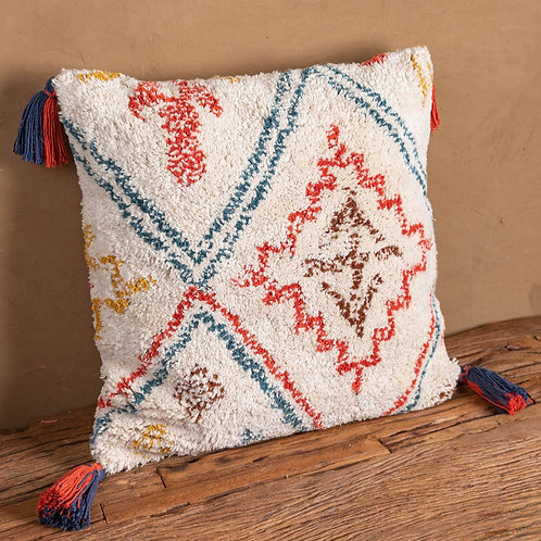 Recycled Hand Tufted Cotton Square Cushion Cover