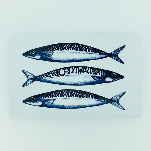 Mackerel Fridge Magnet