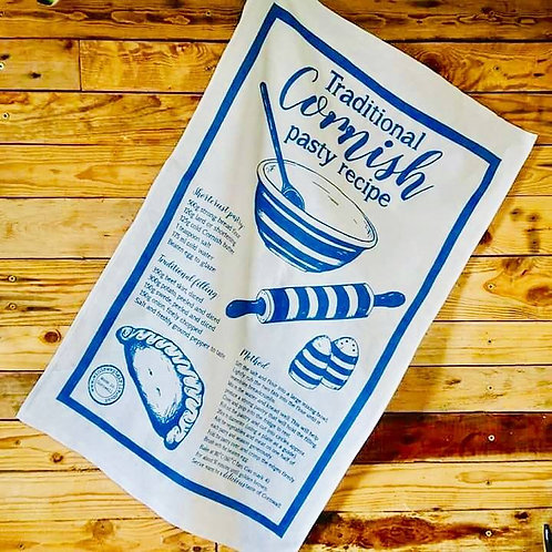 Pasty Recipe Tea Towel