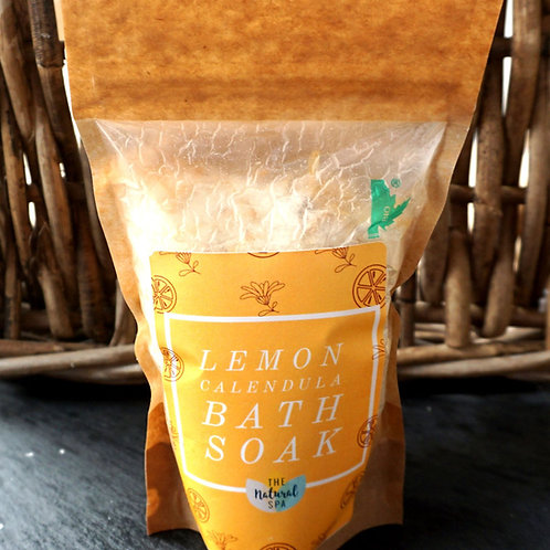 Lemon and Calendula Bath Soak - Compostable pouch - 225g