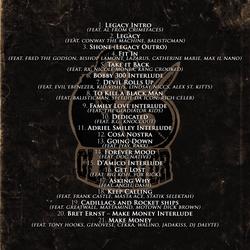 Legacy track listing