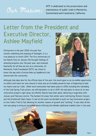 Board President Letter
