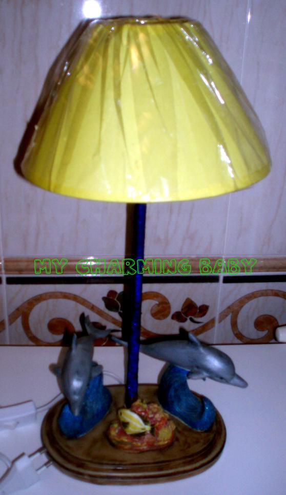 Candeeiro Golfinho Amarelo