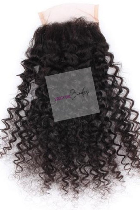 4x4 Raw Curly Closuse