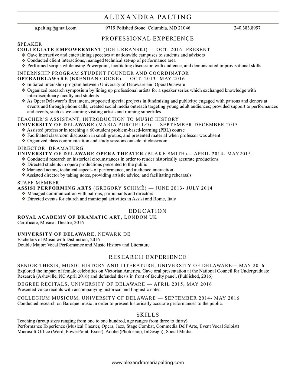 mysite resume professional resume