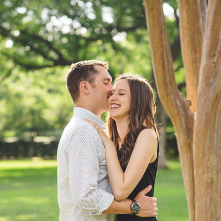 Engagement at the Dallas Arboretum and Botanical Garden: Heather + Nick