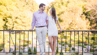 Engagement at the Fort Worth Botanical Garden: Hannah + Daniel