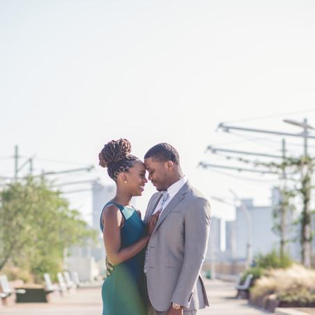 Engagement at Downtown Dallas: Shanada + Peterson