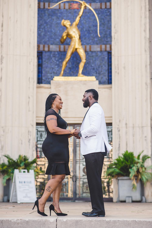 fair park engagement session dallas wedding photographer