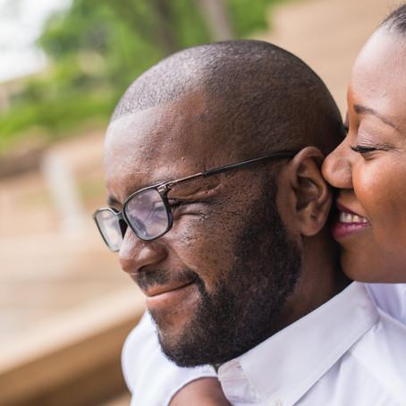 Engagement at Fort Worth Water Gardens: Aneisa + Desmond
