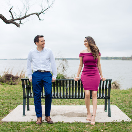 Engagement at White Rock Lake: Cynthia + Julien
