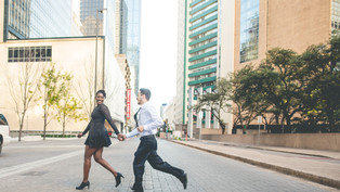 Engagement at Downtown Dallas: DeNiya + Farrell