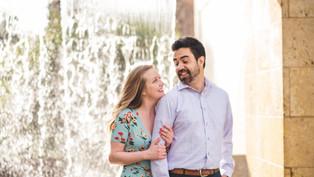 Engagement at Dallas Arboretum: Tawni + Alex