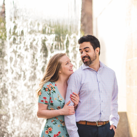 Engagement at Dallas Arboretum: Tawni + Alex