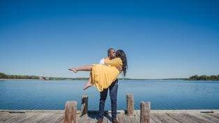 Engagement at the Dallas Arboretum and Botanical Garden: Saskia + Emeka